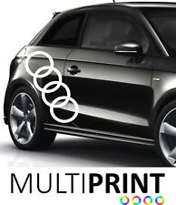 Audi Sticker Graphic Vinyl Decal  A1 A3 Logo Car Racing Side Stripe AUD1