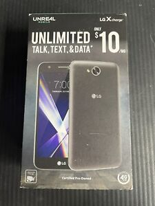 LG X Charge Unlimited Black 16GB 5.5in 2GB RAM Black Unreal Mobile