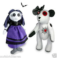 2 X Independent Design Sewing PATTERNS Gothic Rag Doll & Teddy Bear Soft Toy
