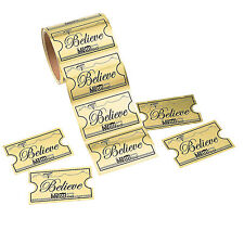1 Roll CHRISTMAS Party Favors GOLDEN TICKET BELIEVE North Pole Train STICKERS