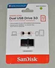 SanDisk 32GB OTG Ultra Dual microUSB USB 3.0 Flash Drive New