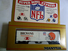 MANTUA HO NFL TEAM TRAIN CAR CLEVELAND BROWNS/CAR LIST b