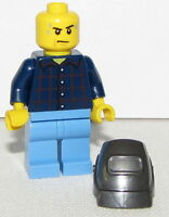 Lego New Minifigure Ford Mechanic Welder Race Car Minifig