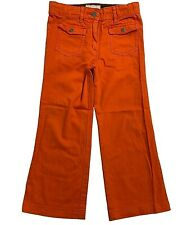 Stella McCartney Girls Orange Stretch Cotton Bootcut Jeans/Pants - Age 6 Years