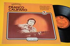 FRANCO CALIFANO LP ALLA BUSSOLA DAL VIVO 1977 EX