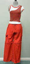 Red Hip Hop Dance Outfit Halloween Costume Children Large Cargo Pants and top