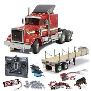 Tamiya Truck King Hauler komplett inkl. Flachbett, LED, Kugellager - 56301SETTR