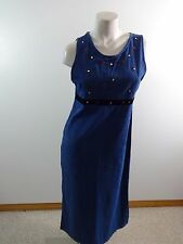 JANE ASHLEY DENIM BLUE JEAN JUMPER DRESS WOMENS SIZE S SUPER CUTE