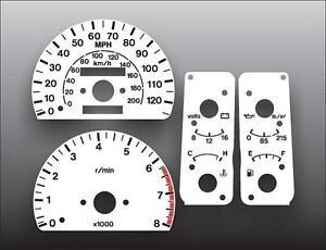 1995-1997 Isuzu Trooper Dash Instrument Cluster White Face Gauges