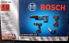 Bosch 18V Lithium-Ion 4 PcTool Kit, CLPK431-181 - Brand New In Box