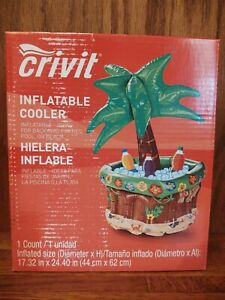 Crivit Inflatable Cooler Palm Tree Drink Cooler For Pool Beach Backyard Parties