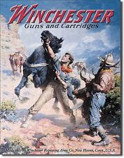 WINCHESTER - Spooked Horse Tin Sign rifle shotgun handgun hunting