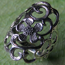 FLOWER RING 925 STERLING SILVER Size.US=10,UK=T