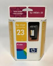 hp 23 inkjet Print cartridge Tricolor Hp C-1823d Brand New Authentic Sealed!