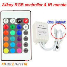 24key IR Remote Controller Control Box DC 12V For 3528/5050 RGB LED Strip Lights