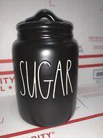 "Rae Dunn Artisan Collection By Magenta ""SUGAR"" Farmhouse Small Black Canister"