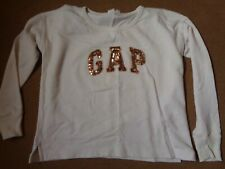 GAP CLASSIC SWEATSHIRT - OFF WHITE COLOUR WITH SEQUINS SIZE XS   @@