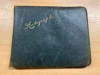 UNUSUAL WW1 & WW2 SIGNED POETRY AND DRAWINGS IN OLD AUTOGRAPH BOOK