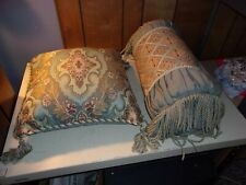 2 Blue Throw Pillows