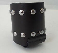 Motorcycle Handlebar Leather Studded Cup Holder/Bottle Holder