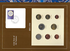 Coin Sets of All Nations Ireland EURO all 2002 UNC 2,1 Euro 50,20,10,5,2,1 Cents