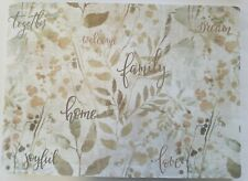 "HOME AND  FAMILY  Plastic TABLE - Foam Placemats 18""x13"" in  set of 4"