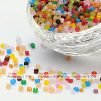 1 Pound Frosted Colors Round Glass Seed Beads Mixed Color 3mm For Jewelry Making