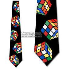 80s Gamer Necktie Brand New Large Puzzle Cube Tie Mens