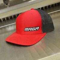 MAGA Snapback Trucker Hat Red/Black - Richardson 112 Cap