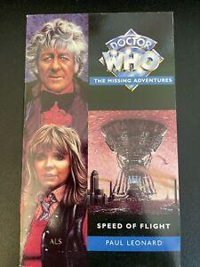 Doctor Who Missing Adventures - Speed Of Flight by Paul Leonard