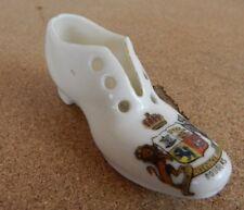 Crested Ware Gemma  Shoe Douglas Isle Of Man 9cm long.