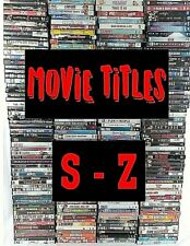 Lot of Dvd Movies S-Z Pick & Choose Quantity Discount Action Drama Comedy Family