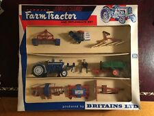 Britains Super Major Farm Tractor And Implement Set 9597 In Excellent Condition