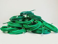 Lot of Ten 15 FT CAT5 GREEN RJ11 RJ11 6P4C Telephone Data Cable ASB1320 15G