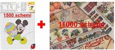 385 EBOOK CON 12.000 SCHEMI PUNTO CROCE DISNEY NATALE HALLOWEEN CROSS STITCH DVD
