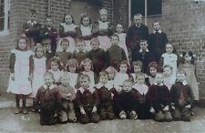 "PRINT 10"" X 7""  TADLEY CHURCH OF ENGLAND SCHOOL GOUP OF PUPILS c1910"