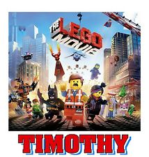 PERSONALIZED LEGO MOVIE T SHIRT BIRTHDAY PRESENT GIFT PARTY FAVOR TEE
