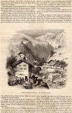 SPLUGEN SUISSE SCHWEIZ SWITZERLAND ARTICLE PRESS 1855 CLIPPING
