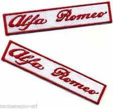 2 Toppe ricamate patch termoadesive marchio ALFA ROMEO cm. 10 x 2