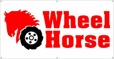 VINTAGE WHEEL HORSE LOGO TRACTOR BANNER