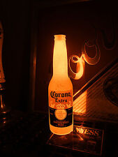 Corona Orange 12 oz Beer Bottle Light LED Pub Bar Pool Man Cave Neon Bar