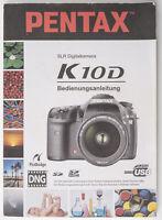 Bedienungsanleitung Pentax SLR Digital Camera K10D  K 10 D Anleitung