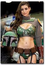 "Sexy Boba Fett Star Wars Fridge Toolbox Magnet Size 2.5"" x 3.5"""