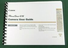 Canon PowerShot G16 Instruction Manual: Full Color & Protective Covers!