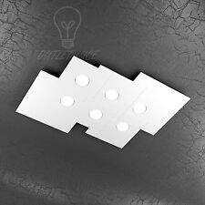 PLAFONIERA TOP LIGHT MODELLO PLATE 1129/PL6R-BI LED GX53 54W LUCE CALDA INCLUSO