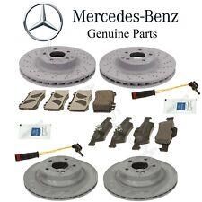 For Mercedes W211 E350 Set Front & Rear Brake Disc Rotors Pads Sensors Lube Kit