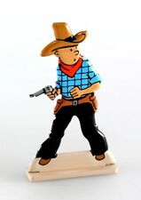 Figurine métal Tintin Tintin en Amérique (bas relief)