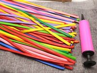 100 Mixed Color Magic Long Animal Tying Balloons Twist Latex Balloons Free Pump