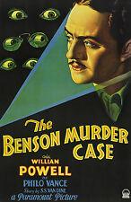 The Benson Murder Case - 1930 - William Powell Boyd Tuttle Vintage Pre-Code DVD