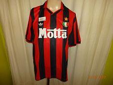 """AC Milano Originale ADIDAS RETRO MAGLIA di 2003 (1992/93) """"MOTTA"""" Taglia M Top"""